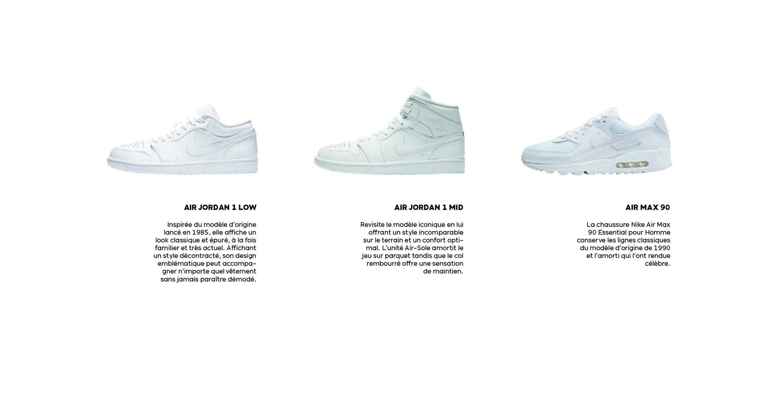 Modèles de sneakers